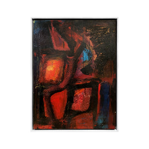 """NEON GYPSY"" MODERNIST ABSTRACT OIL PAINTING BY DANIEL BUCKLER - Flair Home Collection"