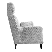 Load image into Gallery viewer, TORINO HIGH BACK CHAIR IN BLACK AND WHITE BOUCLÉ - Flair Home Collection