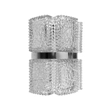 Load image into Gallery viewer, SPIKED GLASS PLAQUE SCONCE WITH CHROME BANDING - Flair Home Collection