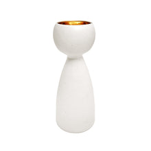 Load image into Gallery viewer, ALABASTER GLAZE CERAMIC CHALICE #5 WITH 22K LUSTRE INTERIOR - Flair Home Collection