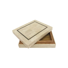 Load image into Gallery viewer, SMALL MAITLAND SMITH TESSELLATED STONE BOX WITH BRASS INLAY - Flair Home Collection