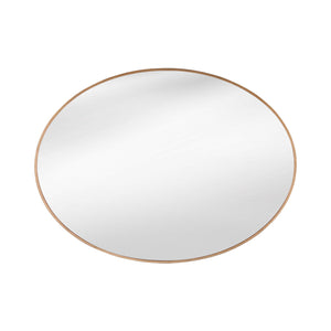 LARGE OVAL GOLD FRAMED MIRROR - Flair Home Collection