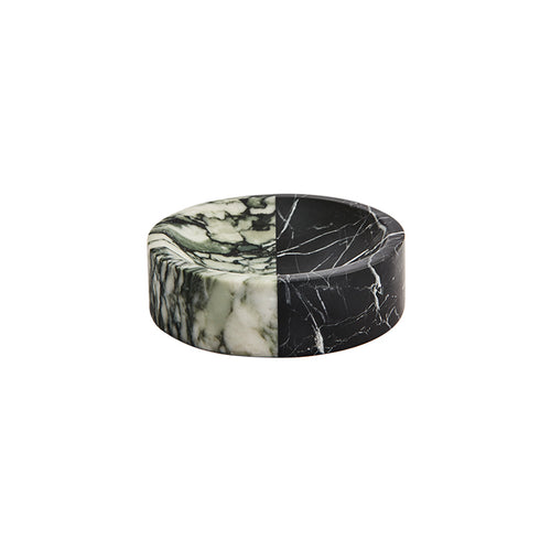 ROUND POLAR BOWL IN MIXED MARBLE - Flair Home Collection
