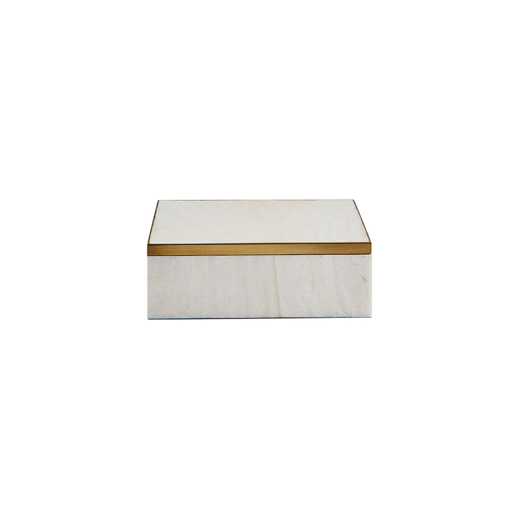 PARKER BOX IN WHITE SHELL - Flair Home Collection