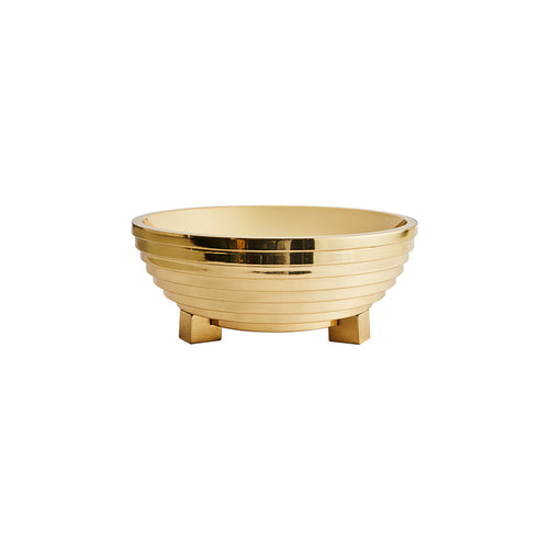 ZIGGURAT BOWL IN BRASS - Flair Home Collection