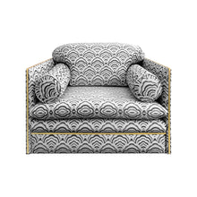 Load image into Gallery viewer, ITALIAN CLUB CHAIR WITH BRASS PROFILE - Flair Home Collection