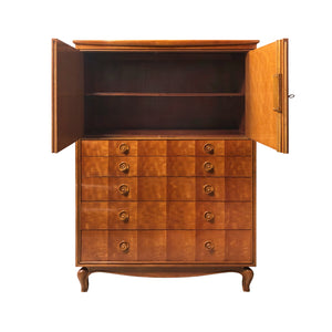 MID-CENTURY CHEST OF DRAWERS WITH DIAMOND INLAY DETAIL - Flair Home Collection
