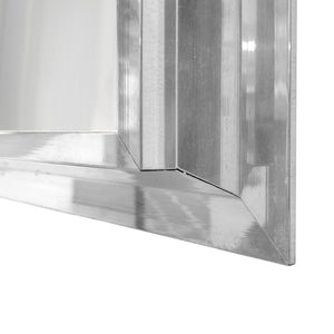 RECTANGULAR BEVELED CHROME FRAMED MIRROR - Flair Home Collection