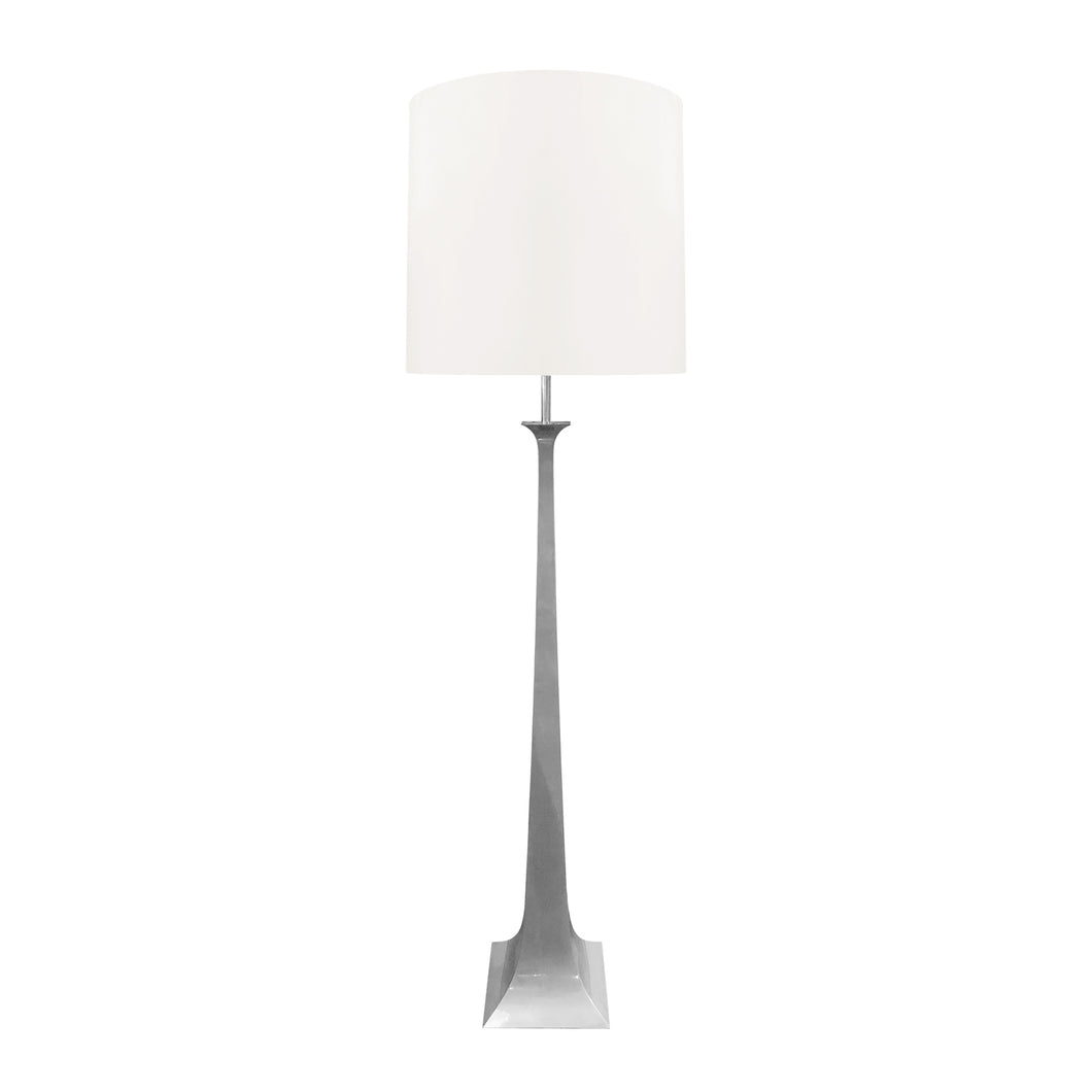 VINTAGE NICKEL FLOOR LAMP BY TONELLO AND GRILLO - Flair Home Collection