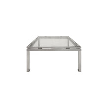 Load image into Gallery viewer, MEDIUM SQUARE BRUSHED NICKEL SIDE TABLE BY GUY LEFEVRE - Flair Home Collection