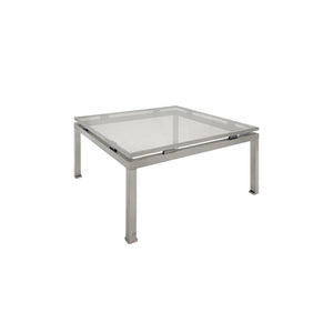 MEDIUM SQUARE BRUSHED NICKEL SIDE TABLE BY GUY LEFEVRE - Flair Home Collection