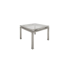 Load image into Gallery viewer, SMALL SQUARE BRUSHED NICKEL SIDE TABLE BY GUY LEFEVRE - Flair Home Collection
