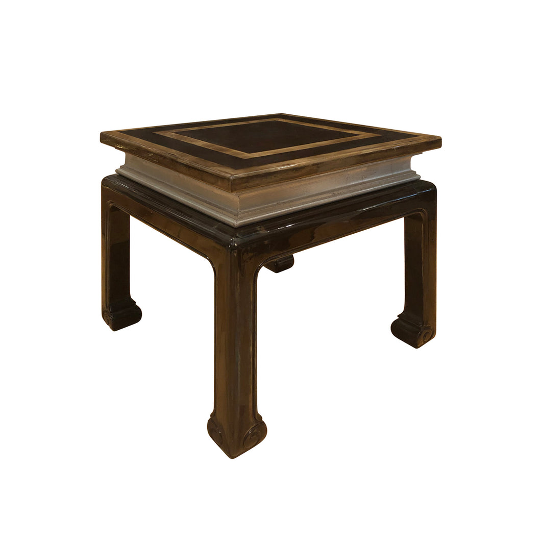 MAISON JANSEN STYLE SQUARE LACQUERED WOOD SIDE TABLE - Flair Home Collection