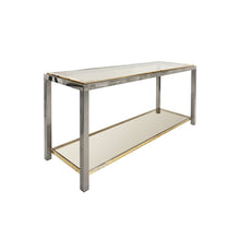 Load image into Gallery viewer, ROMEO REGA BRASS AND CHROME TWO TIER CONSOLE - Flair Home Collection