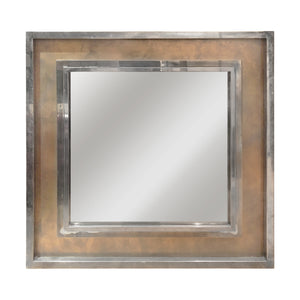 MASSIVE MAISON JANSEN BRONZE, BRASS AND NICKEL MIRROR - Flair Home Collection