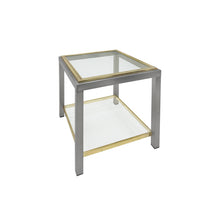 Load image into Gallery viewer, ROMEO REGA BRASS AND CHROME TWO TIERED SIDE TABLE - Flair Home Collection