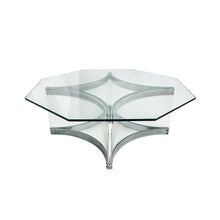 Load image into Gallery viewer, ALESSANDRO ALBRIZZI OCTAGONAL CHROME AND LUCITE COFFEE TABLE - Flair Home Collection