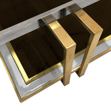 Load image into Gallery viewer, TWO TIER BRASS AND NICKEL COFFEE TABLE - Flair Home Collection