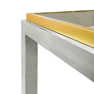 ROMEO REGA BRASS AND CHROME CONSOLE - Flair Home Collection