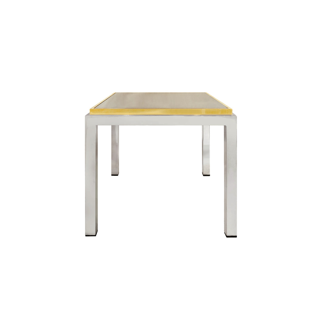 ROMEO REGA BRASS AND CHROME SIDE TABLE - Flair Home Collection