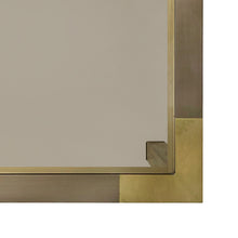 Load image into Gallery viewer, SQUARE TWO TONE BRONZE SIDE TABLE WITH SMOKED GLASS TOP BY WILLY RIZZO - Flair Home Collection
