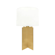 Load image into Gallery viewer, BRONZE CROSS BASE TABLE LAMP - Flair Home Collection