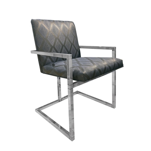 CHROME FRAME DINING CHAIR - Flair Home Collection