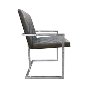 VINTAGE CHROME FRAME DINING CHAIR - Flair Home Collection