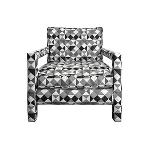 MILO BAUGHMAN STYLE PARSONS LOUNGE CHAIR - Flair Home Collection