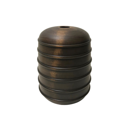 EBONIZED CHERRY WOOD BEADED VESSEL #1 - Flair Home Collection