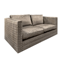 Load image into Gallery viewer, CHARLES PFISTER FOR KNOLL SOFA IN GEOMETRIC CUT VELVET - Flair Home Collection