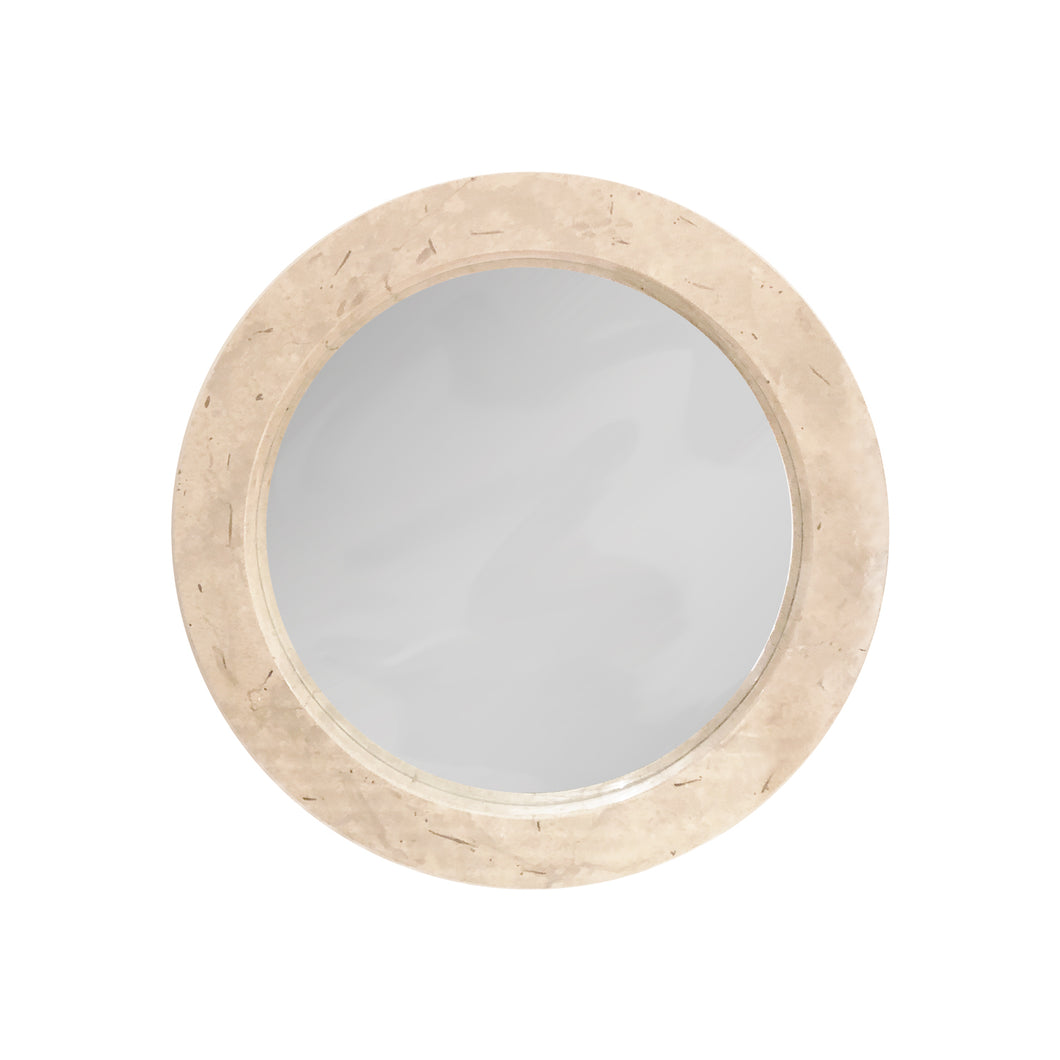 ROUND GOATSKIN MIRROR - Flair Home Collection