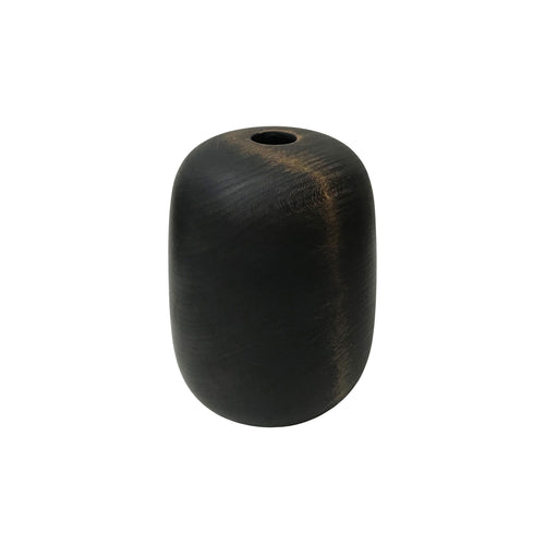 EBONIZED CHERRY WOOD TALL PRIMARY VESSEL #1 - Flair Home Collection