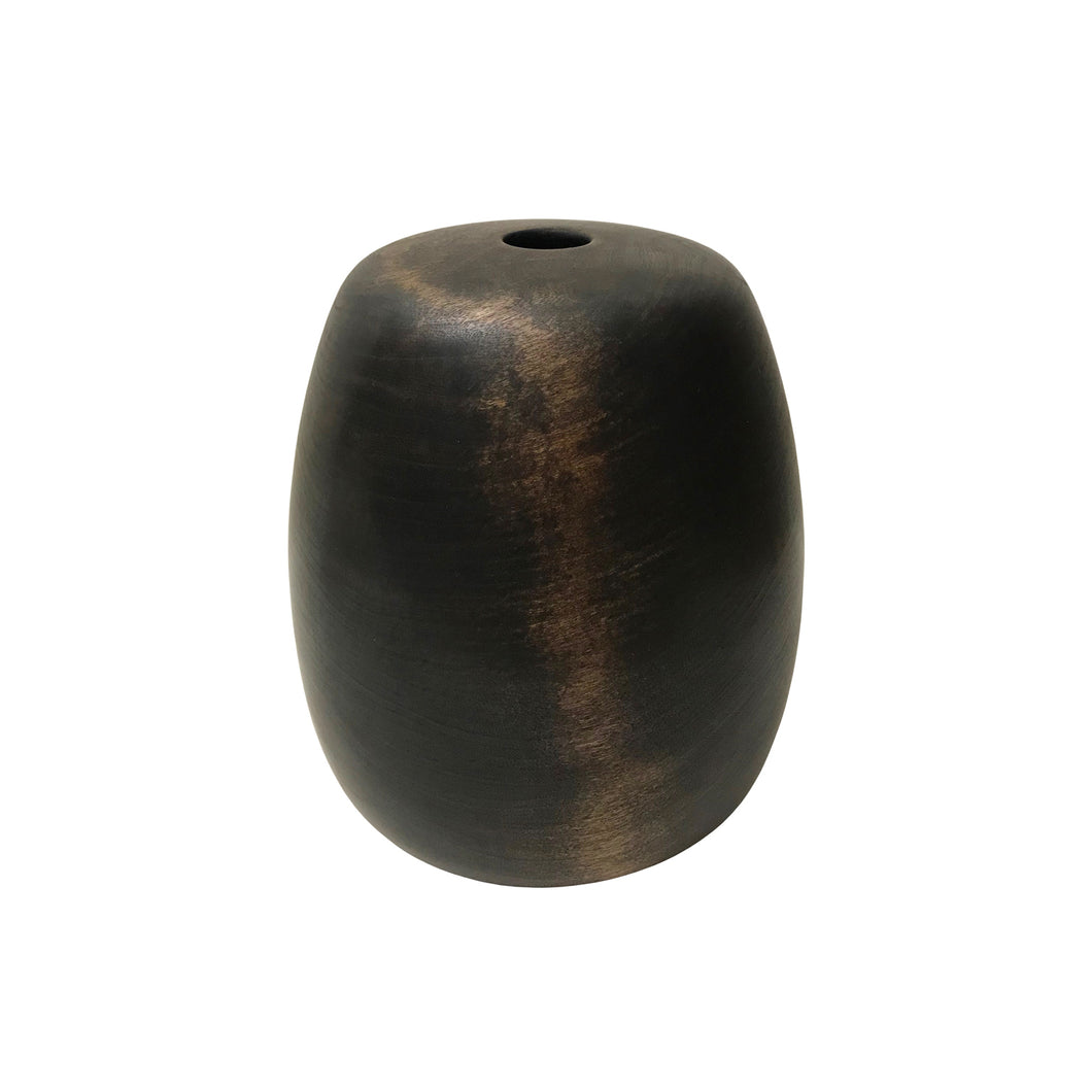 EBONIZED CHERRY WOOD TALL PRIMARY VESSEL #2 - Flair Home Collection