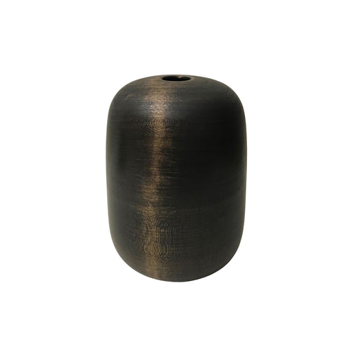 EBONIZED CHERRY WOOD TALL PRIMARY VESSEL #3 - Flair Home Collection