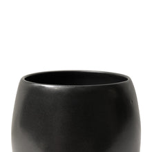 Load image into Gallery viewer, CURVED CERAMIC VASE WITH BLACK LUSTER GLAZE AND POINTED BASE - Flair Home Collection