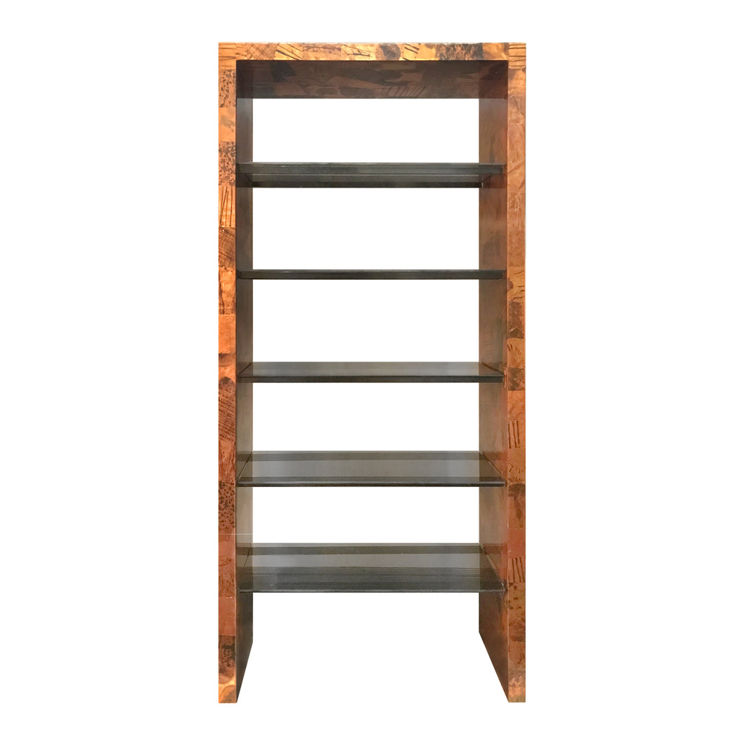 PAUL EVANS FOR DIRECTIONAL PATCHWORK METAL ETAGERE - Flair Home Collection