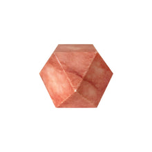 Load image into Gallery viewer, VINTAGE CORAL MARBLE FACETED CUBE SCULPTURE - Flair Home Collection
