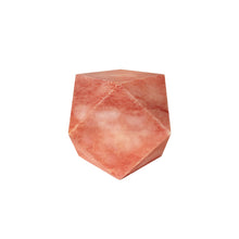 Load image into Gallery viewer, CORAL MARBLE FACETED CUBE SCULPTURE - Flair Home Collection
