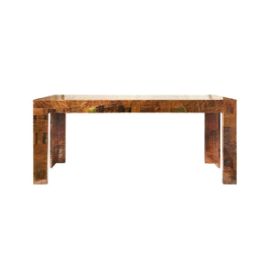 PAUL EVANS FOR DIRECTIONAL PATCHWORK METAL CONSOLE - Flair Home Collection