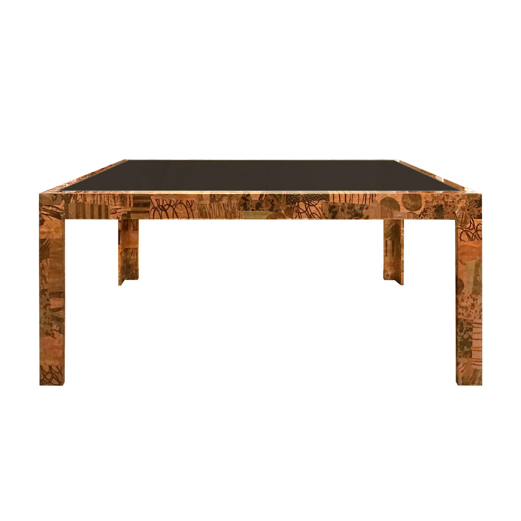 PAUL EVANS FOR DIRECTIONAL PATCHWORK METAL DINING TABLE - Flair Home Collection