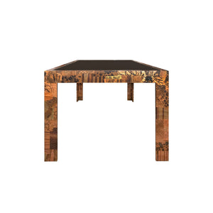 VINTAGE PAUL EVANS FOR DIRECTIONAL PATCHWORK METAL DINING TABLE - Flair Home Collection