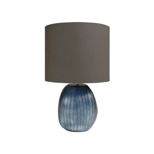 HANDBLOWN GLASS PATARA TABLE LAMP IN OCEAN BLUE - Flair Home Collection