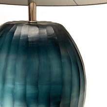 Load image into Gallery viewer, HANDBLOWN GLASS PATARA TABLE LAMP IN OCEAN BLUE - Flair Home Collection