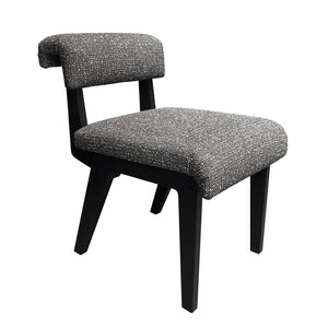 FORTE DINING/DESK CHAIR IN BLACK AND WHITE BOUCLE - Flair Home Collection