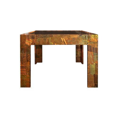 PAUL EVANS FOR DIRECTIONAL PATCHWORK METAL COCKTAIL TABLE - Flair Home Collection