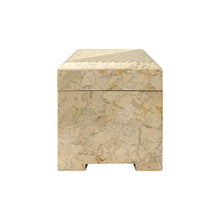 Load image into Gallery viewer, SQUARE MAITLAND SMITH TESSELLATED STONE BOX WITH BRASS INLAY - Flair Home Collection