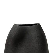Load image into Gallery viewer, TALL CERAMIC DENT VASE WITH MATTE BLACK GLAZE - Flair Home Collection