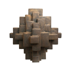 """COMPOSITION 11.1"" TABLE SCULPTURE IN BRONZE FINISH - Flair Home Collection"