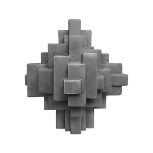 """COMPOSITION 11.3"" TABLE SCULPTURE IN CHARCOAL FINISH - Flair Home Collection"